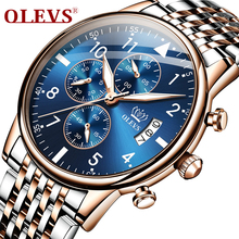 OLEVS Top Brand Luxury 2020 New Men watch Chronograph Auto Date watches mens waterproof Fashion sports clock Quartz wristwatches olevs cool function man s watches waterproof date mesh steel strap chronograph watch business male clock quartz men wristwatches