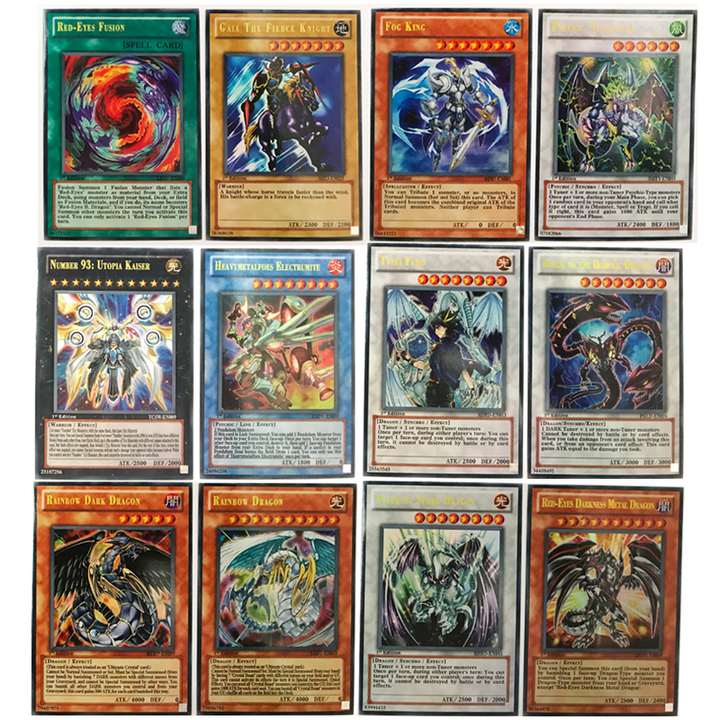 100pcs/set Yu gi oh english cards with beautiful Metal box card collection Yu Gi Oh game paper cards toys for children & adults 2