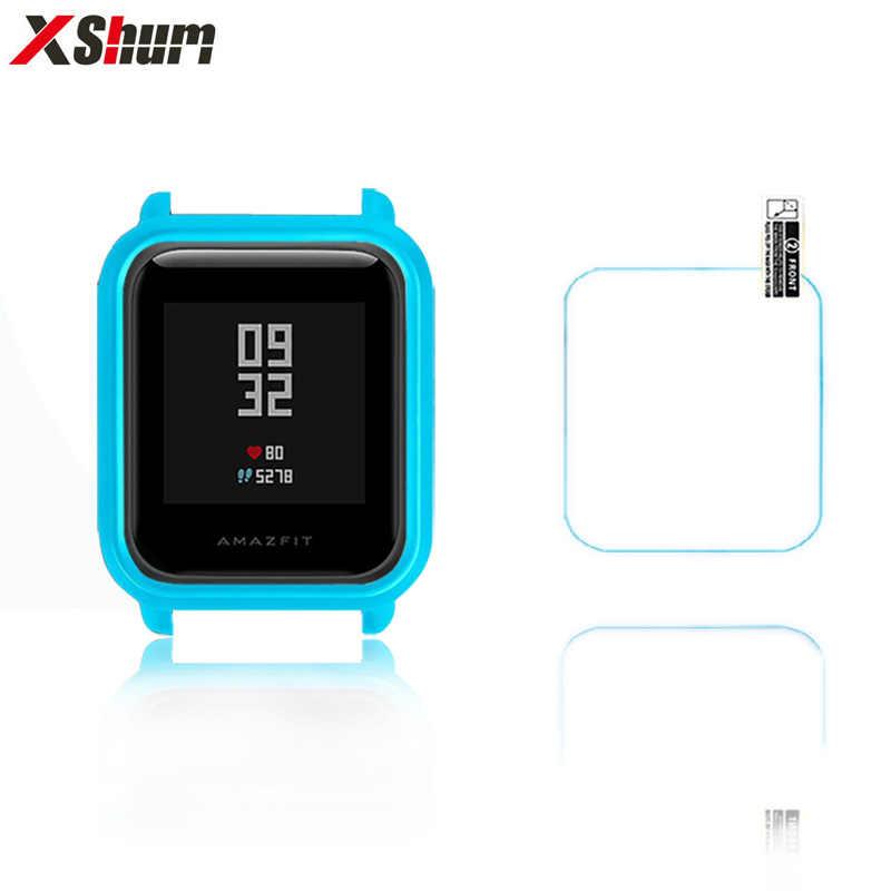 Xshum Amazfit Bip Case Protector Voor Xiaomi Amazfit Bip Accessoires Bumper Screen Bescherming Beschermende Shell Case
