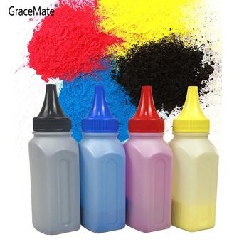 Kaseta z tonerem kolorowym w proszku + 4 układu CF350A 130A CF350 kompatybilny do HP Color LaserJet Pro MFP M176n MFP M177fw drukarka laserowa tanie i dobre opinie GraceMate CN (pochodzenie) CF350A CF351A CF352A CF353A 130A toner cartridge 40g bottles 4 bottles of powder 40g each 1500pages-2000pages