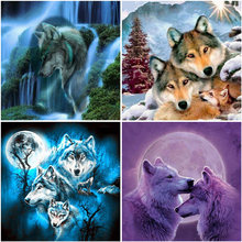DIY Wolf 5D Diamond Painting Full Square Drill Resin Animal Diamont Embroidery Cross Stitch Wall Art Home Decor Drop&ship
