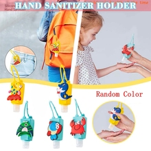 Silicone Bottle Disinfectant Hand-Sanitzer-Holder Hand-Washing Key-Chain Travel-Accessories