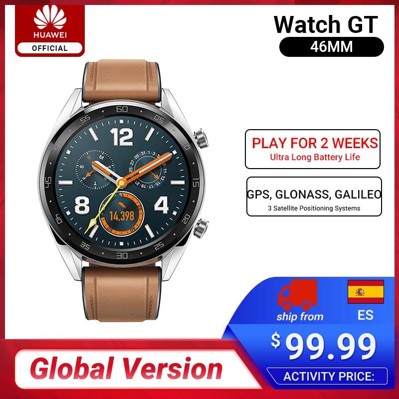 In Stock Global Version HUAWEI Watch GT Smart Watch 1.39'' Screen 14 Days Battery Life Waterproof  5ATM Test Heart Rate Tracker
