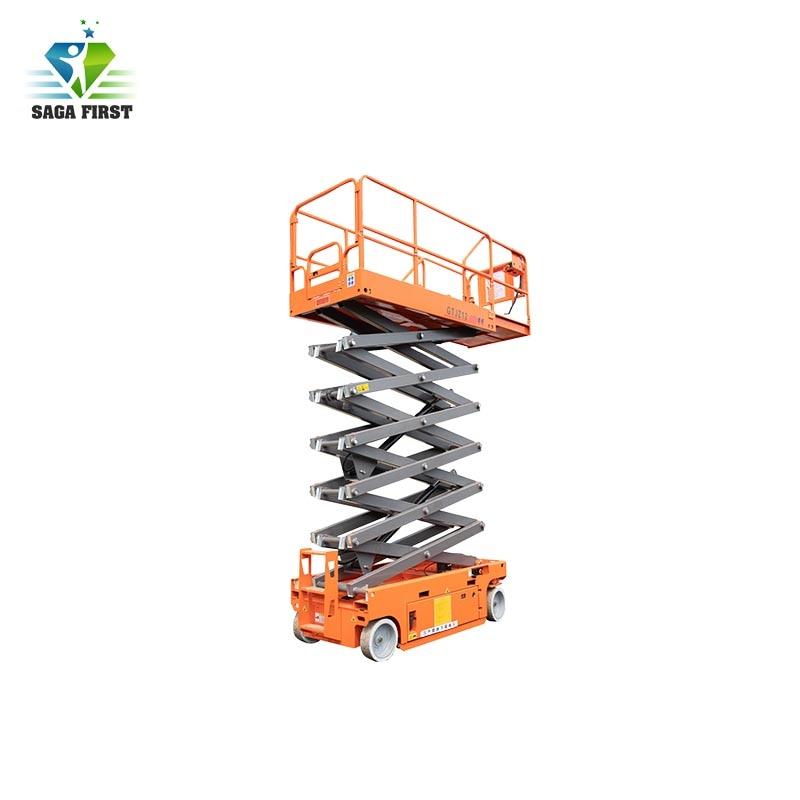 8m, 300kg Self Propelled Electric Lift Platform Scissor Lifter
