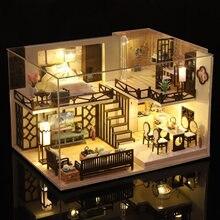 Сделай Сам Миниатюрный Кукольный дом поделки с деревянной мебелью