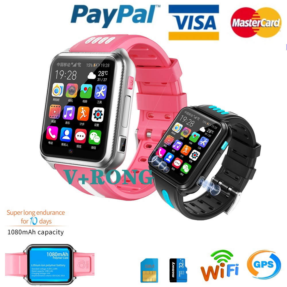 New Smart Watch Android Ios For Apple Oppo NFC Waterproof 4G GPS Sim Smartphone Real-time Positioning Smart Watch Women Men Kids