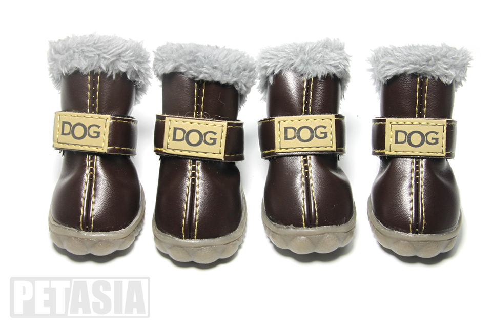 Winter Pet Dog Shoes Warm Snow Boots Waterproof Fur 4PcsSet Small Dogs Cotton Non Slip XS For ChiHuaHua Pug Pet Product PETASIA (6)