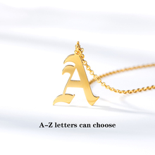 Old English Letters Capital Initial A C H Z Letter Pendant Necklace Men Vintage Font Personalized Necklace Women Jewelry personalized capital letter pendant choker necklace old english font inital nameplate necklace golden color customized jewelry