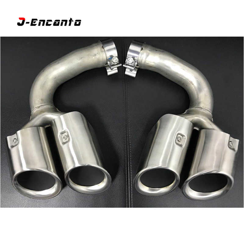 958 double twin dual exhaust pipe tip
