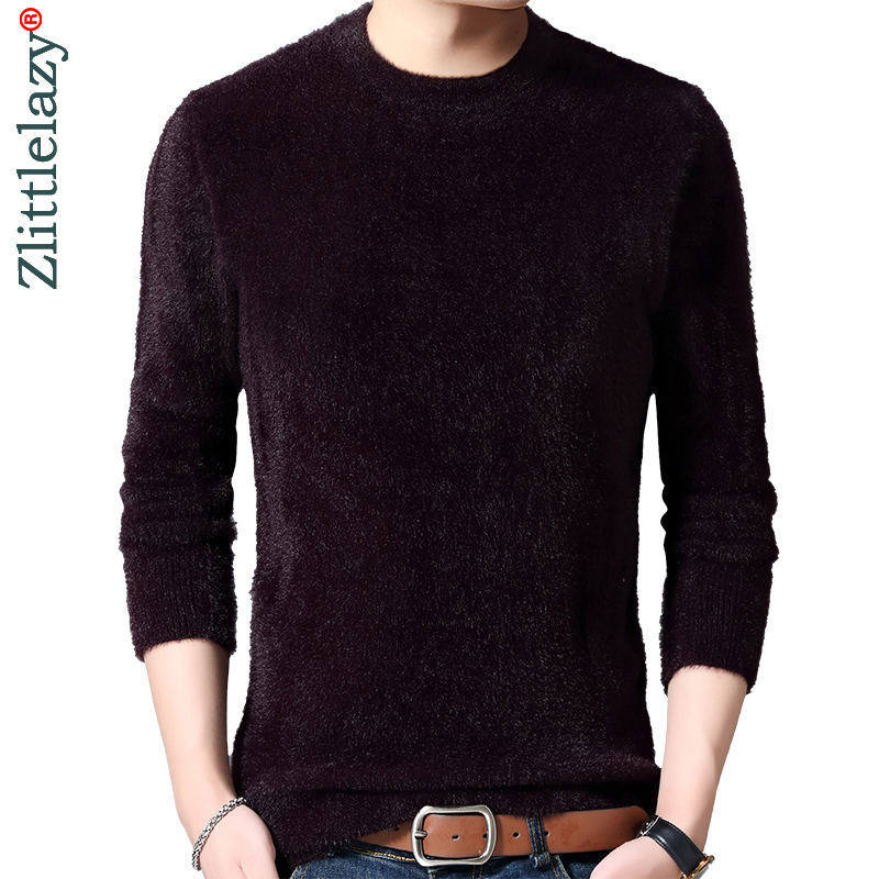 2019 Casual Thick Warm Winter Solid Knitted Pull Sweater Men Wear Jersey Dress Pullover Knit Mens Sweaters Male Fashions 02103