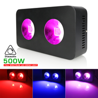 2Pcs Full Spectrum LED Grow Light Panel 500W Phyto Lamps For Plant Growing kit Indoor Greenhouse Vegetable Grow Tent Growth Box