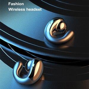 Image 2 - Tws bluetoothイヤホン骨伝導ヘッドセットとマイクステレオワイヤレスヘッドフォン1800mah充電ボックススポーツヘッドセット