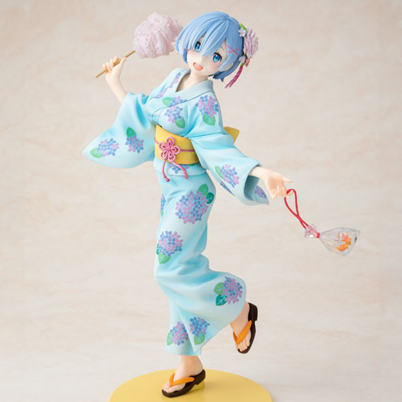 Anime Re Life In A Different World From Zero Yukata Ver Rem Sexy Girls Anime PVC Action Figures Toys Anime Figure Toys For Kids