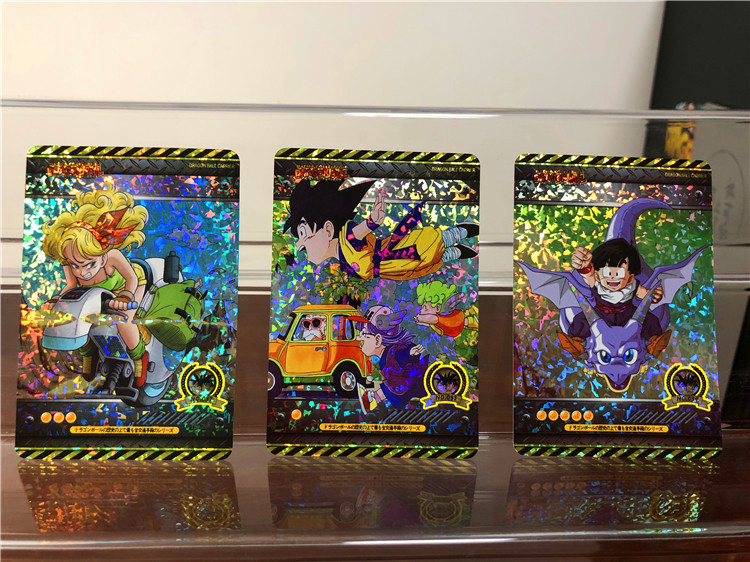 18pcs Dragon Ball Super Super Instinct Goku Jiren Action Toy Character Commemorative Edition Game Flash Card Collection Card