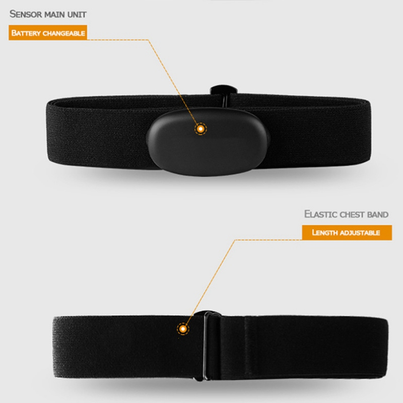High Quality Waterproof Heart Rate Monitor Outdoor Cycling Running  Fitness Bluetooth & Ant+ Heart Rate Sensor Sport Chest Strap