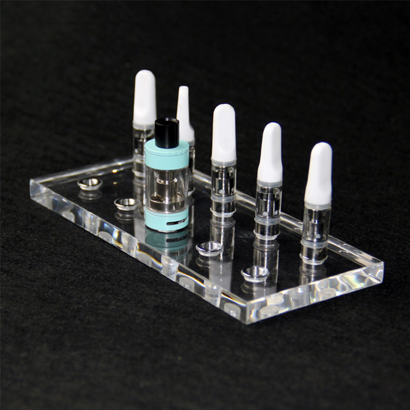 HTCJ Universal Atomizer Display Stand Compatible With 510 Atomizer Transparent Acrylic Electronic Cigarette Tank Stand