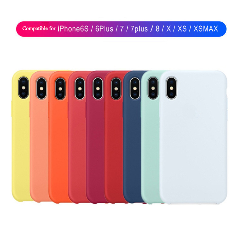 Luxury official original style <font><b>Silicone</b></font> <font><b>case</b></font> for Apple <font><b>iphone</b></font> 6 s 7 8 plus <font><b>cases</b></font> covers cover For X XS Max XR <font><b>iPhone</b></font> <font><b>case</b></font> <font><b>logo</b></font> image