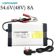 YZPOWER 54.6V 8A 48V ליתיום סוללה מטען עבור 48V ליתיום סוללה חשמלי אופנוע Ebikes