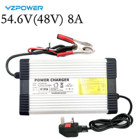 YZPOWER 54.6V 8A 48V Lithium Battery Charger for 48V Lithium Battery Electric Motorcycle Ebikes|Chargers|Consumer Electronics -