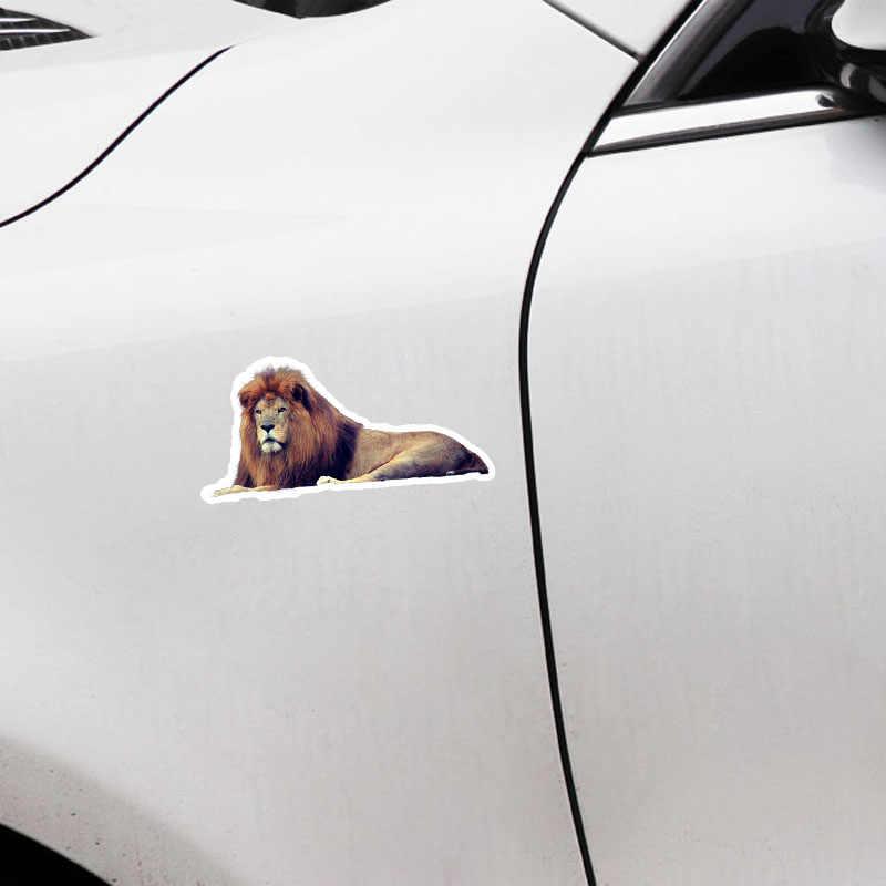 Aliauto mode autocollant de voiture couché grand Lion décor vinyle décalcomanie couverture rayures pour Passat Mini Cooper Audi C5 Bmw, 17cm * 8cm