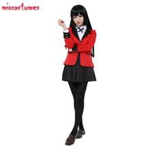 Yumeko Jabami Cosplay Costume Kakegurui Compulsive Gambler School Uniform