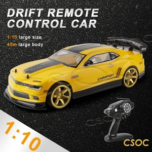 CSOC RC Drift Cars 45-70km/H 1/10 Remote Control Racing Toy One-click Acceleration in Double Battery Big Off-road 4WD for Adults