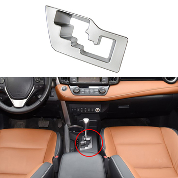 For Toyota RAV4 2016 2017 2018 Car Interior Gear Shift Box Panel Cover Frame Trim Car Accessories image