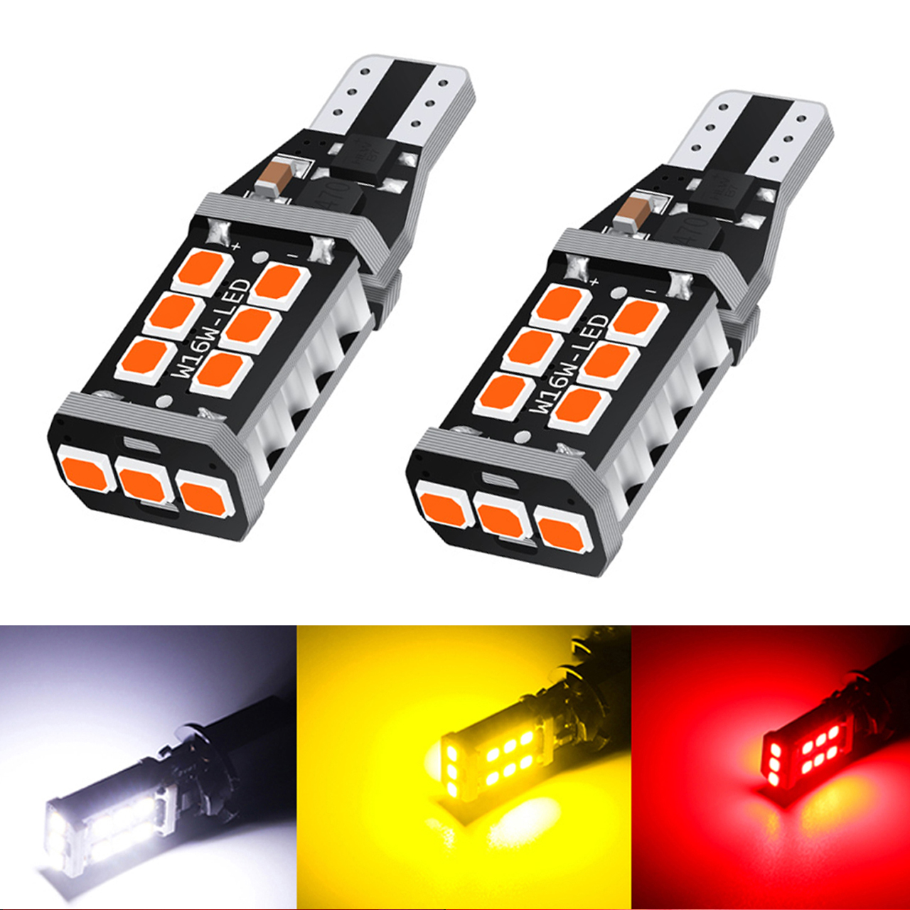 2x T15 T16 Led Canbus No Error Backup Reverse Light Lamp For FOR VW VOLKSWAGEN Passat B7 T15 W16W LED 2835 Chip Car Styling