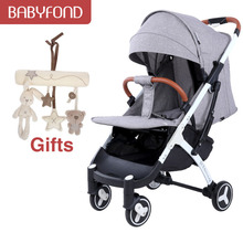 Fast shipping ! Brand yoyaplus 3 baby stroller light portable umbrella can sit l