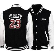 Jordan 23 Letter Printing Male Jacket Coat Casual Streetwear Baseball Uniform Me