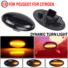 2 pieces For Peugeot Partner 407 307 Toyota Aygo Fiat Scudo Dynamic Led Turn Signal Side Marker Lights Sequential Blinker Lamp