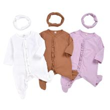 цена на Newborn Infant Baby Boy Girl Sleep Clothes Sleeper Footie Sleeping Romper Baby Sleepwear Cotton Pajamas Jumpsuit