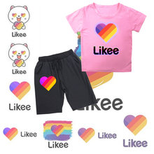 2020 new likee 2pcs kid boy girl t shirt clothing set brand