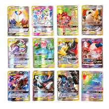 200 Chiếc 25 50 Con GX Mega Sáng Pokemon Thẻ Trò Chơi Trận Carte 100 Chiếc Thương Mại Thẻ Trò Chơi Đồ Chơi Trẻ Em