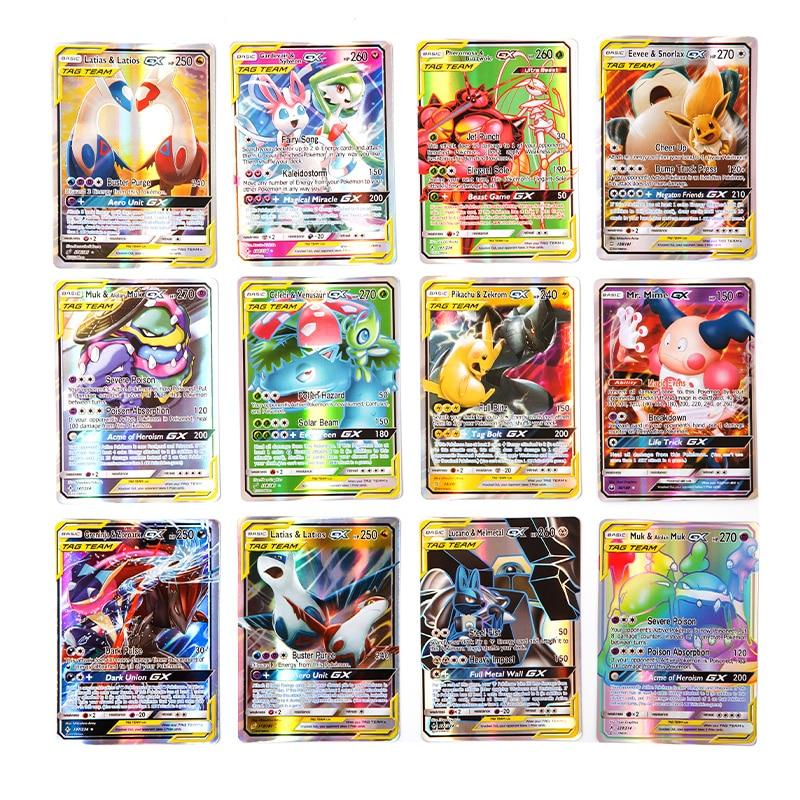 200 Pcs 25 50pcs GX MEGA Shining Pokemon  Cards Game Battle Carte 100pcs Trading Cards Game Children Toy