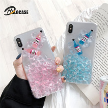 Personality ICE Wine Bottle Funny Pattern Soft TPU Epoxy Phone Case For