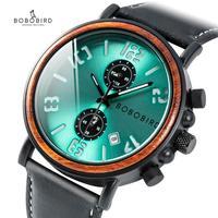BOBO BIRD Men Watches leather Fashion Womens Ladies Watch Simple Pink Analog Quartz Wristwatch clock saat Couple Gift Customize