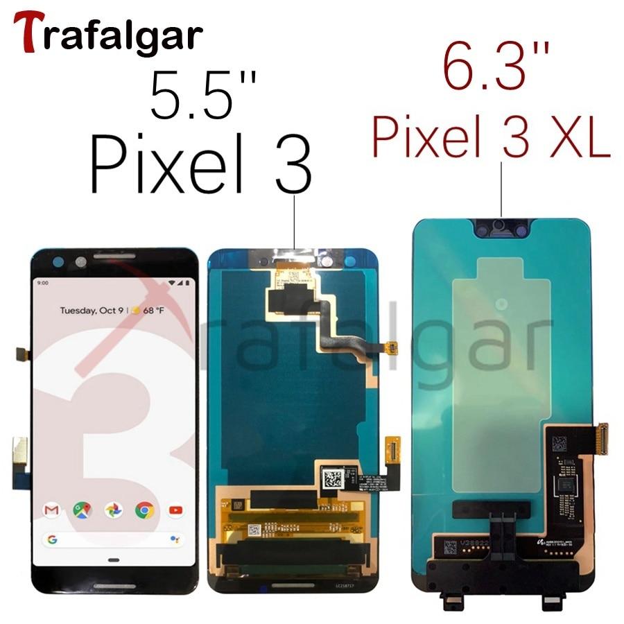 OLED LCD Google Pixel 3 Display Touch Screen Digitizer Assembly Per Google Pixel 3 XL LCD Pixel3 XL Schermo LCD di ricambio-in Schermi LCD per cellulare da Cellulari e telecomunicazioni su  Gruppo 1