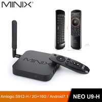 MINIX NEO U9 H+NEO A3 Android 7.1 TV BOX With Voice Input Air Mouse Optional Amlogic S912 H Octa Core 4K HDR WIFI Smart TV BOX