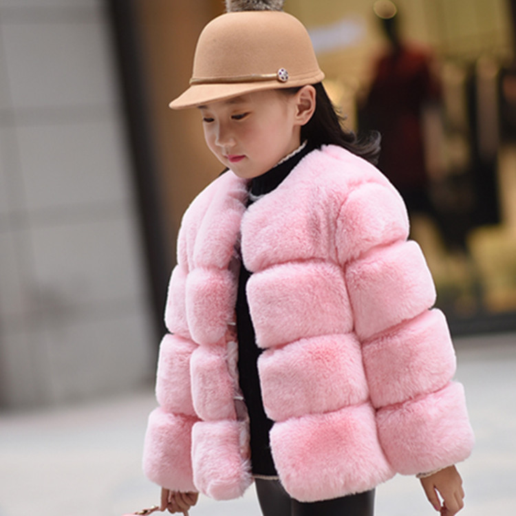 Baby Girls Faux Fur Coat Winter Children Girls Long Sleeve Christmas Jacket Warm Kids Girls Snow Coat Girls Outerwear Clothing