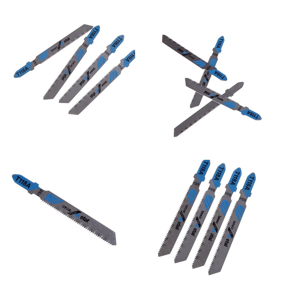 Lames de scie sauteuse HSS T118A, 5 pièces, bois, métal, coupe rapide, alternative