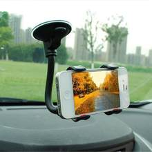 New Car Back Seat Headrest Mount Holder Lazy Neck Phone 360 Rotation Stand for Cellphone Flexible Long Arms Clip Bracket(China)