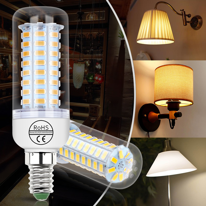 E27 Corn Bulb LED Lamp E14 220V Ampoule GU10 LED Bulb G9 24 36 48 56 69 72leds Bombillas B22 Home Light 5730 Chandelier Candle