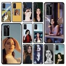 Funda de Lana Del Rey para Huawei P20 P40 Lite E P30 Pro P10 P Smart Z Plus 2019, carcasa de silicona para teléfono móvil, color negro