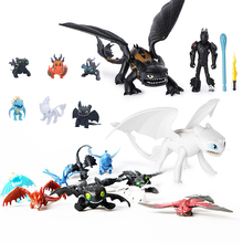 New 923cm Dragon Light Fury Toothless Action figure White Toys For Childrens Birthday Gifts