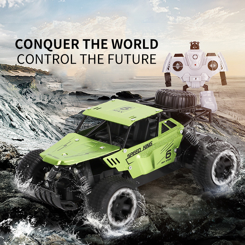 Unique RC Car <font><b>1</b></font>:18 2.4GHZ Rock Crawler Remote Control Toy Cars Radio Control Multiple Athletic Off-road Truck kids' Toys gift image