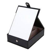Black Travel Makeup Mirror Portable Box Cases Cosmetic Mirror with Standing(China)