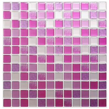 Mosaic Wall Tile Peel and Stick  Self adhesive Backsplash DIY Kitchen Bathroom Home Wall Sticker Vinyl 3D 24