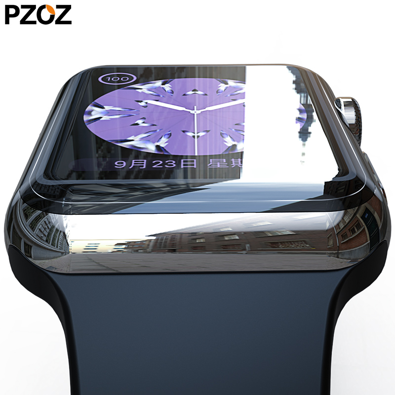 PZOZ For Apple Watch 4 5 Screen Protective Case 40mm 44mm Soft Hydrogel Film 3D Full Cover For Apple Watch 1 2 3 Watch 38mm 42mm