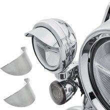 "Aftermarket משלוח חינם אופנוע חלקי 1 זוג 4.5 ""עובר מנורת מגן זרקור מגן עבור הארלי דוידסון סיור Dyna ספורט"
